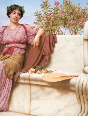 John William Godward - Tranquillity [detail: right]