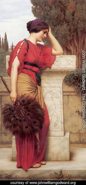 John William Godward - La Pensierosa (The Thinker)