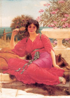 John William Godward - Flabellifera [oil study]