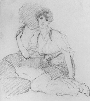 John William Godward - Flabellifera [pencil study]
