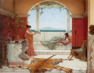 John William Godward - 'The Sweet Siesta of a Summer Day'