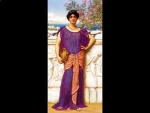 John William Godward - The Tambourine Girl (II)