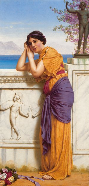 John William Godward - 'Rich Gifts Wax Poor When Lovers Prove Unkind'