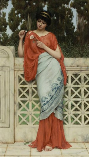 John William Godward - He Loves Me, He Loves Me Not