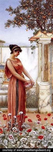 John William Godward - An Idle Hour