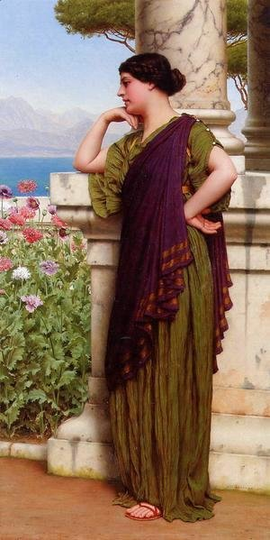 John William Godward - Tender Thoughts