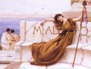 John William Godward - A Priestess of Bacchus