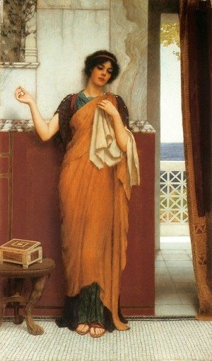 John William Godward - A Stitch in Time (Idle Thoughts)