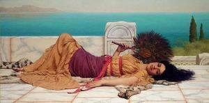 John William Godward - Idleness I