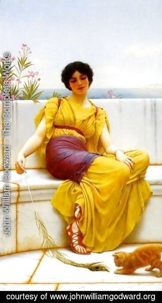 John William Godward - Idleness II