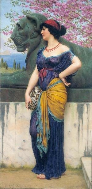 John William Godward - In the Grove of the Temple of Isis
