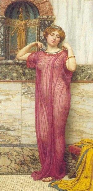 John William Godward - The Necklace