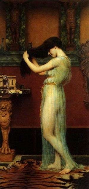 John William Godward - The Toilette