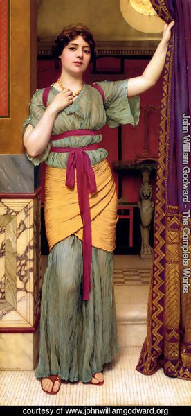 John William Godward - A Pompeian Lady II