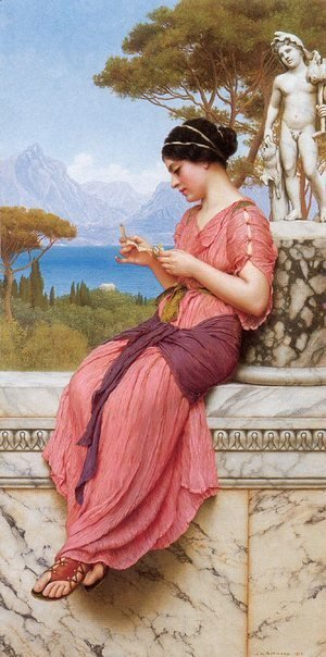 John William Godward - Le Billet Doux