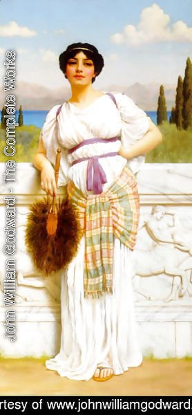 John William Godward - A Greek Beauty 2