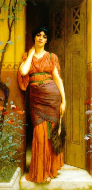 John William Godward - At the Garden Door 2