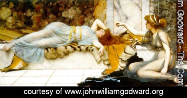 John William Godward - Mischief and Repose 2