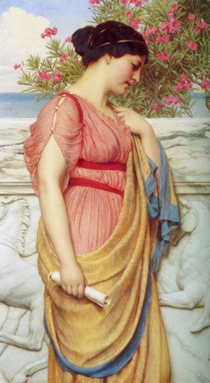 John William Godward - Sappho 2