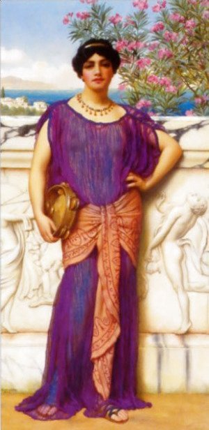 John William Godward - The Tambourine Girl (II) 2