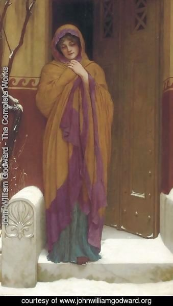John William Godward - A Winter's Morning