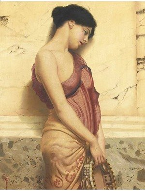 John William Godward - The tambourine girl 2
