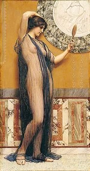 John William Godward - A Fair Reflection