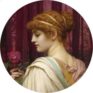 John William Godward - Chloris, A Summer Rose