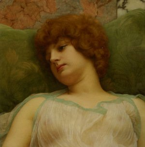 John William Godward - Idle Moments
