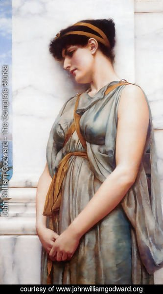 John William Godward - Pompeian Girl