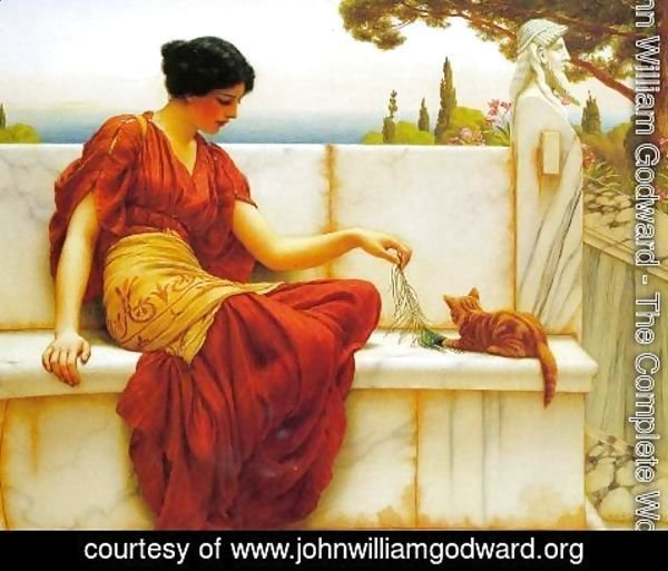 John William Godward - The Favourite