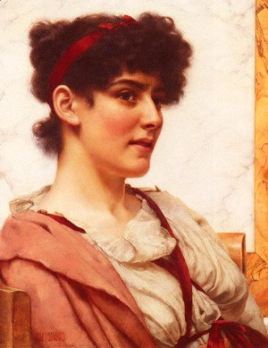 John William Godward - A Classical Beauty