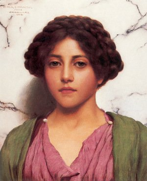 John William Godward - A Classical Beauty I