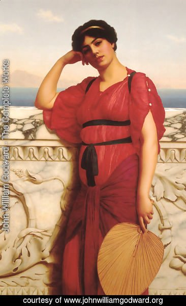 John William Godward - A Classical Lady