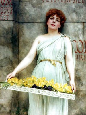 John William Godward - A Flower Seller
