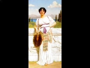 John William Godward - A Greek Beauty