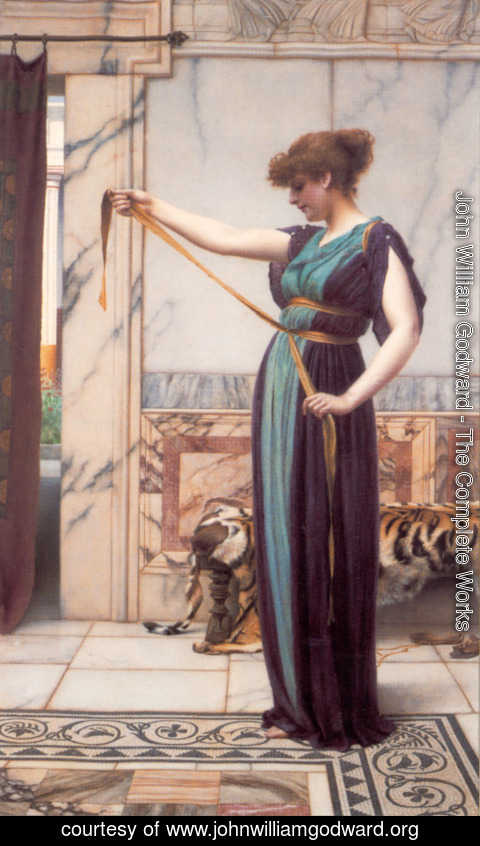 John William Godward - A Pompeian Lady