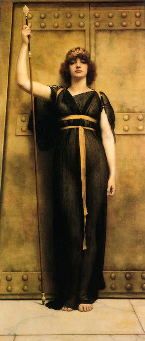 John William Godward - A Priestess Ii