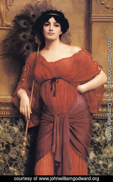 John William Godward - A Roman Matron
