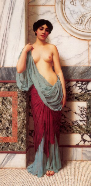 John William Godward - At The Thermae