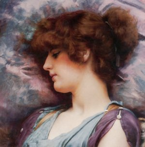 John William Godward - Far Away Thoughts