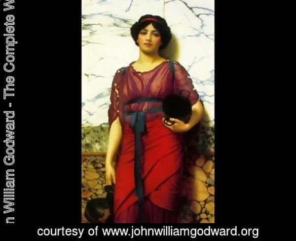John William Godward - Grecian Idyll