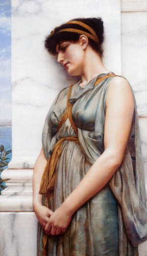 John William Godward - Grecian Reverie