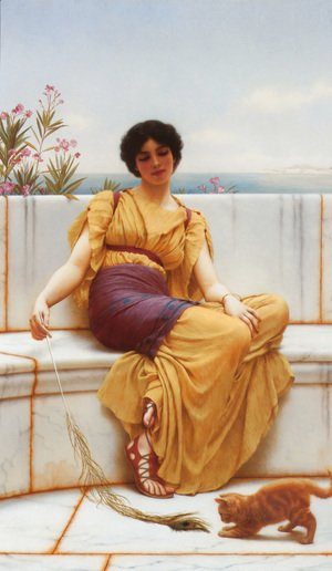John William Godward - Idleness