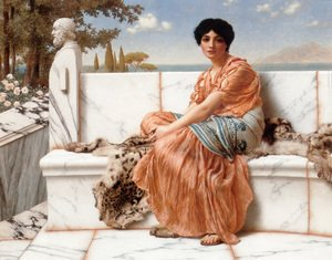 John William Godward - In The Days Of Sappho