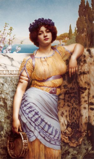 John William Godward - Ionian Dancing Girl