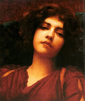 John William Godward - Reverie   Study