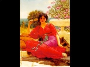 John William Godward - Study For Flabellifera