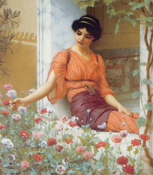 John William Godward - Summer Flowers