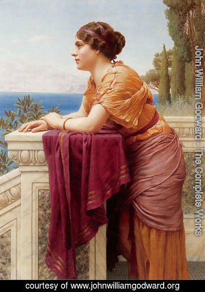 John William Godward - The Belvedere